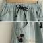กางเกงยีนส์ขาสั้น กระเป๋าหน้า-หลัง งานปัก 2 จุด สีอ่อน thumbnail 3