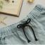 กางเกงยีนส์ขาสั้น กระเป๋าหน้า-หลัง งานปัก 2 จุด สีอ่อน thumbnail 6