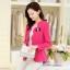เสื้อสูทหวานขอบเชิ้ตหยักบัว สีชมพู(Pink) thumbnail 1