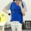 เสื้อยืดสั้น ขนตาวิ๊งๆ สีน้ำเงิน thumbnail 5