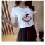 เสื้อยืดสั้น สกรีนผู้หญิงปักเพชร thumbnail 1