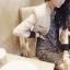 เสื้อสูทสไตล์เกาหลีแขนยาว สีครีม(Cream) thumbnail 2