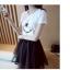 เสื้อยืดสั้น สกรีนผู้หญิงปักเพชร thumbnail 2