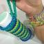 100% Silicone Loom Band สีฟ้าอมน้ำเงิน 600เส้น ( # 31 ) thumbnail 3