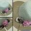 หมวกปีกกว้าง ทรงระฆังประดับโบว์ดอกไม้ thumbnail 1