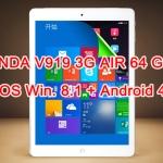 ONDA V919 3G AIR 64GB 2 ระบบ Win. 8.1/Android 4.4 จอ 9.7นิ้ว RETINA ใส่ซิมโทรได้ เล่นเนต 3G แรงๆ สวย