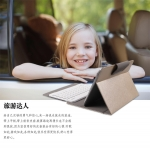 Keyboard Bluetooth พร้อมเคสวางตั้งได้ สำหรับแท็บเล็ต 9-10 นิ้ว สีทอง
