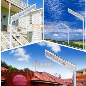 SL03 โคมไฟถนนโซล่าเซลล์อัจฉริยะรุ่น 30W All-in-one solar street light