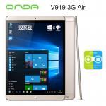 ONDA V919 3G AIR (BlackGold) 64GB 2 ระบบ Win.10/Android 4.4 จอ 9.7นิ้ว RETINA ใส่ซิมโทรได้ เล่นเนต 3G แถมคีย์บอร์ บูลทูธ สำเนา