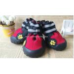 รองเท้าสุนัขโต สีแเดง-ดำ (L) เบอร์ 6