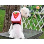 กระเป๋าเป้สุนัข กระเป๋าเป้แมว ลายสตรอเบอร์รี่(L)