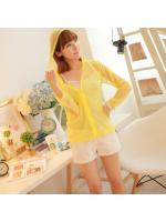 fashion เสื้อคลุม มีฮู้ด สีเหลือง น่ารัก ใส่ทำงาน ใส่เที่ยว ชิวๆ Asia Street Fashion