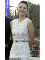 dress เดรสยาว ผ้าลูกไม้ สีขาว น่ารัก ใส่ทำงาน ใส่ออกงานได้ สวยๆ Asia Street Fashion