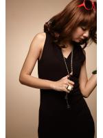 MAXI DRESS ชุดเดรสยาว มีหมวกฮูด กระเป๋าด้านข้าง สีดำ แฟชั่นเที่ยว ใส่ทำงาน ผ้าชีฟองผสมคอนตอน สวยน่ารักมากๆ ASIA STREET FASHION