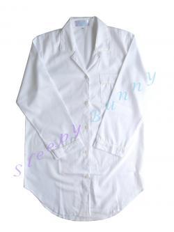 ds1 ชุดนอนเดรสเชิ้ต สีขาว Size S, M