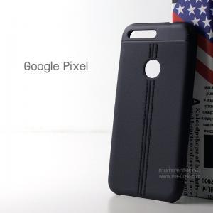 เคส Google Pixel เคสนิ่ม TPU ลายหนัง สีดำ