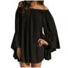Sequins Deep V Neck Sleeveless Pleated Mesh Party Short Mini Women is Dresses Online(Black)