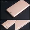 เคส iPhone 7 Plus และ 8 Plus เคสฝาพับเกรดพรีเมี่ยม (เย็บขอบ) พับเป็นขาตั้งได้ สีโรสโกลด์