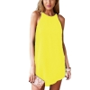 ZANZEA Sexy Women Summer Loose Casual Sleeveless Evening PartyBeach Short Mini Shop Fashion Dresses Online Yellow