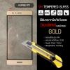 (มีกรอบ) กระจกนิรภัย-กันรอยแบบพิเศษ ขอบมน 2.5D Huawei P9 ความทนทานระดับ 9H สีทอง