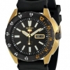 Seiko SRP364K1 5 Sports Black Dial Gold Plated Automatic Watch