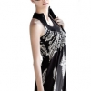 Cyber Elegant Women Party Mini Lace Dress Ladies Fashion CasualSleeveless ( Black )