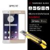 (มีกรอบ) กระจกนิรภัย-กันรอยแบบพิเศษ ขอบมน 2.5D (OPPO R7 | OPPO R7 Lite) ความทนทานระดับ 9H สีทอง