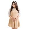 Chowy ร้านขายชุดเดรสแฟชั่นออนไลน์ แฟชั่นเกาหลี - สีเบจ (ไซส์ใหญ่)