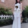 Diamond Bloosom Lace Long Dress by Seoul Secret