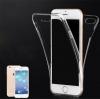 เคส iPhone 6 Plus เคสนิ่ม TPU 2 ส่วน พร้อมจุด Pixel ขนาดเล็กป้องกันเคสติดตัวเครื่อง สีใส (ด้านหน้า-ด้านหลัง)