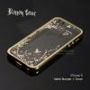 เคส iPhone 5 / 5S / SE l เคส Bumper ขอบกันกระแทก + ฝาหลังลายดอกไม้ สีทอง (Blossom cover)