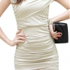 Women Lace V-neck Short Sleeve Hollow Out Elegant Women - Dresses White