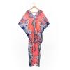 KaftanAlis Woman's dress # เสื้อคลุมตัวยาว สุด Chic#เดรสสไตล์ผู้หญิงอินเทรนด์ แฟชั่นออนไลน์ยาวชีฟองลายพิมพ์ ลวดลายแพทเทิร์นลายดอกกรมท่า สลับสีแดงหมาก