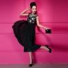 maxi dress ชุดเดรสยาว แฟชั่น ผ้าชีฟอง แต่งลูกไม้ แขนกุด สีดำ ใส่ออกงาน