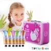 Finger Paint color Metal Box Set- Pink ชุดสี Finger paint กล่องเหล็ก ชมพู