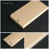 เคส iPhone 7 Plus และ 8 Plus เคสฝาพับเกรดพรีเมี่ยม (เย็บขอบ) พับเป็นขาตั้งได้ สีทอง