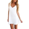 ZANZEA Women Celeb V Neck Backless Lace Crochet Chiffon SummerBeach Mini Dresses For Women White