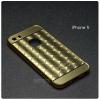 เคส iPhone 5 / 5s / SE l เคสฝาหลัง + Bumper (แบบเงา) ขอบกันกระแทก สีทอง (แบบเงา CHECKED PATTERN)
