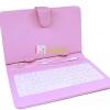 เคสคีย์บอร์ด สวยๆแป้นพิมพ์ไทย-อังกฤษ Micro USB สำหรับแท็บเล็ต 7 นิ้ว -สีชมพู