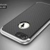 """เคส iPhone 7 (4.7"""") เคส iPaky Hybrid Bumper เคสนิ่มพร้อมขอบบั๊มเปอร์ สีดำขอบเงิน"""