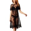 Evening Party Women Knee Embroidery Lace Sheer Long Womens Dresses Online
