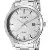 Seiko Men's SUR047 Silver-Toned Stainless-Steel White Dial Bracelet Watch
