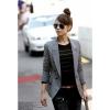 fashion suit สูทแฟชั่นใส่ทำงาน ใส่เที่ยว คอปก แขนยาว ตัวเท่ห์ สีเทา Asia Street Fashion