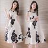 Cliona Made' Ch@nel Floral Line Dress
