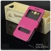 เคส Samsung Galaxy J7 เคสฝาพับ พร้อมช่องรูดรับสาย สีชมพู