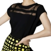 Summer Women Hollow-Out Tulle Chiffon Blouses