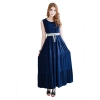 Fashionstory Maxi Shop Fashion Dresses Online รุ่น 763/3 (สีกรมท่า)