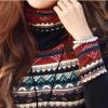 New Korean Fashion Women T-shirt Retro Print Turtle Neck LongSleeve Thickened Basic Shirt Tops