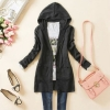 Knitted Sweater Long Sleeve Cardigan Dark Grey