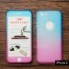 เคส iPhone 6 / iPhone 6s เคสแข็งความยืดหยุ่นสูง (ด้านหน้า/ด้านหลัง) สีสันสดใส (สีฟ้า/สีชมพู)